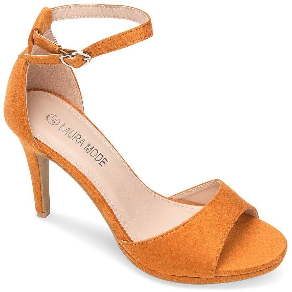 Sandałki damskie Laura Mode QL-128 Brązowe