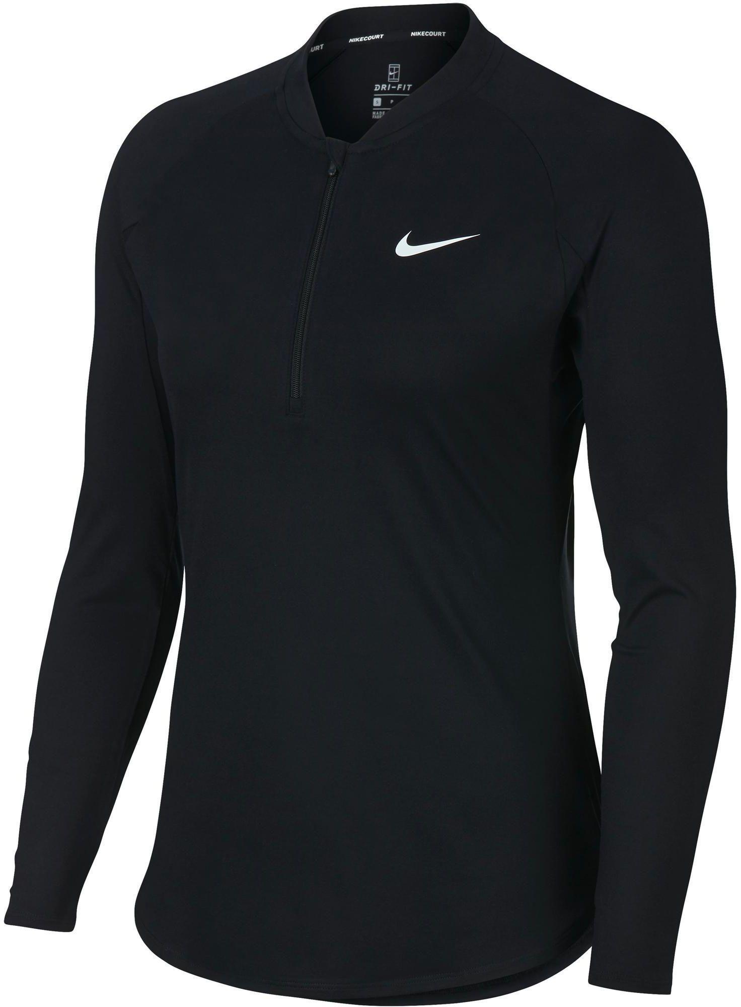 T-Shirt tenisowy Nike Dry Fit Pure damski z długim rękawem