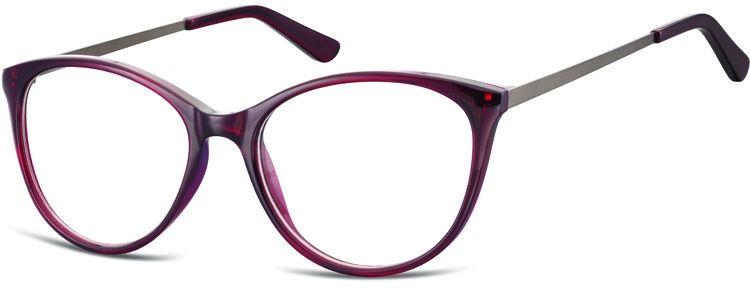 Okulary oprawki zerówki korekcyjne Kocie Unisex Sunoptic AC27D ciemnoczerwone