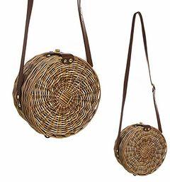 DCASA okrągła torba z tkaniny Minbmre i torby plażowej, 40 cm, wielokolorowa