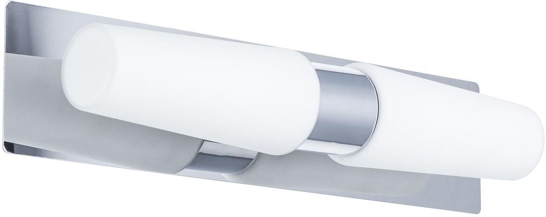 Italux kinkiet lampa ścienna Talo MB12021106-2A chrom białe szkło do łazienki IP44 38cm