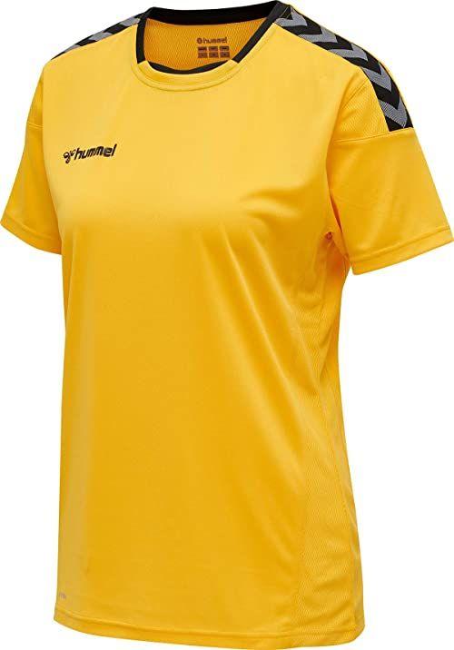Hummel HmlAuthentic Poly Jersey damska koszulka z dżerseju S/S żółty Sports Yellow/Black M
