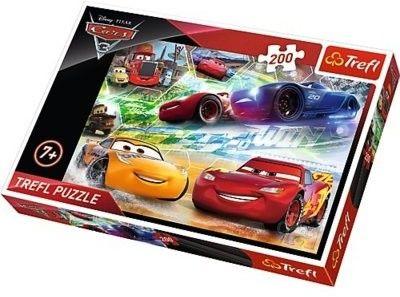 Puzzle Trefl 200 - Autka - Droga do zwycięstwa, Cars - Road to victory