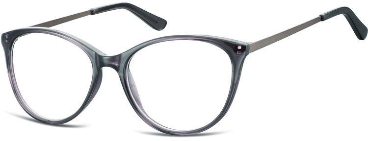 Okulary oprawki zerówki korekcyjne Kocie Unisex Sunoptic AC27F ciemnoszare