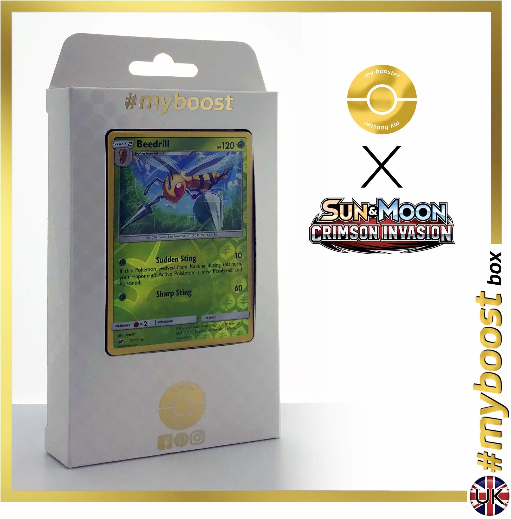 Naganadel 108/214 Holo - #myboost X Sun & Moon 8 Lost Thunder - pudełko 10 angielskich kart pokemon