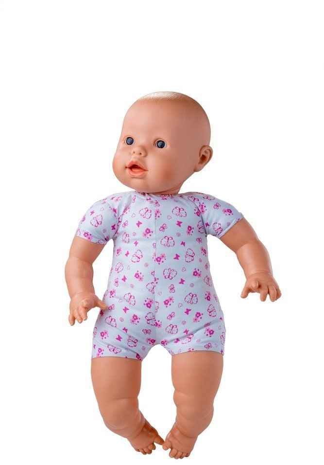 Berjuan  lalka Newborn dziewczynka 45 cm europejska, wielokolorowa (8075)