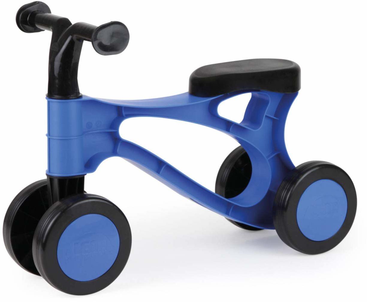 Lena 07168 First, Blue and Black, sit Steel osie, hulajnoga dla niemowląt do treningu równowagi, pomoc do nauki chodzenia dla małych dzieci od 18 miesięcy