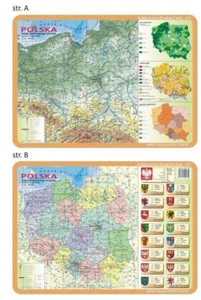 Podkładka edu. 062 - Polska mapy