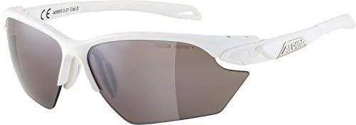 ALPINA Unisex - Dorośli, TWIST FIVE S HR Q-LITE Okulary sportowe, white matt/black, One Size