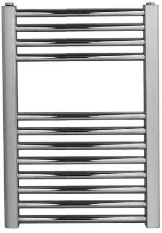 Grzejnik łazienkowy york v - wykończenie proste, 400x600, chromowany