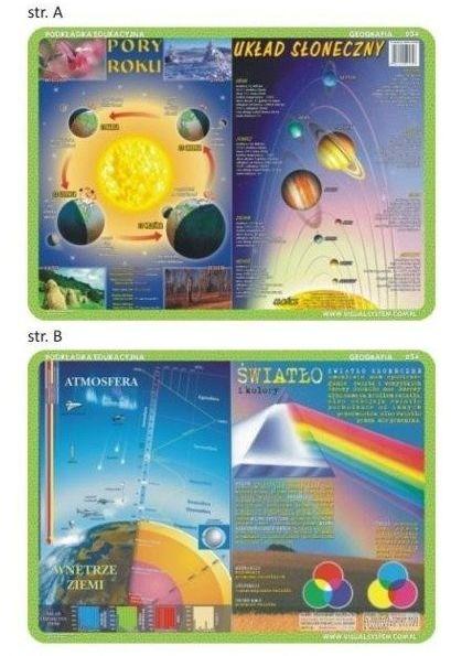 Podkładka edu. 034 - Pory roku, układ słoneczny...