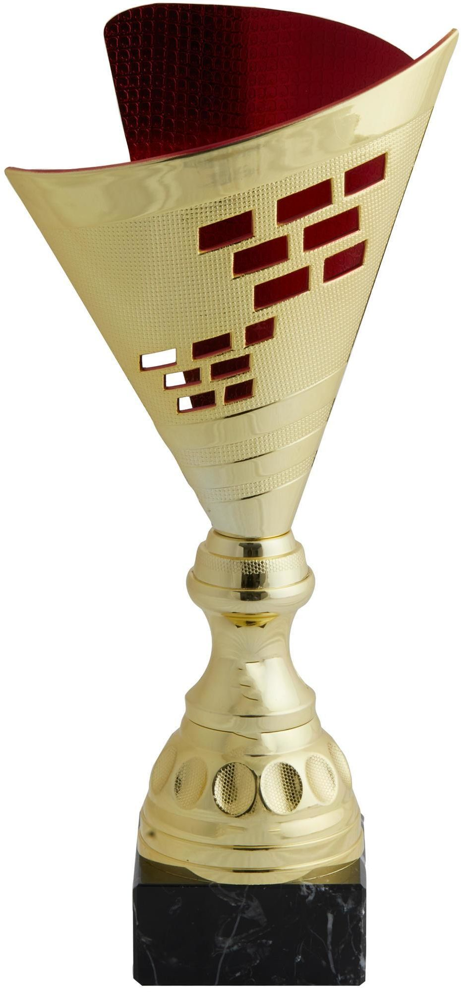 PUCHAR T537 35 cm ZŁOTO-CZERW.