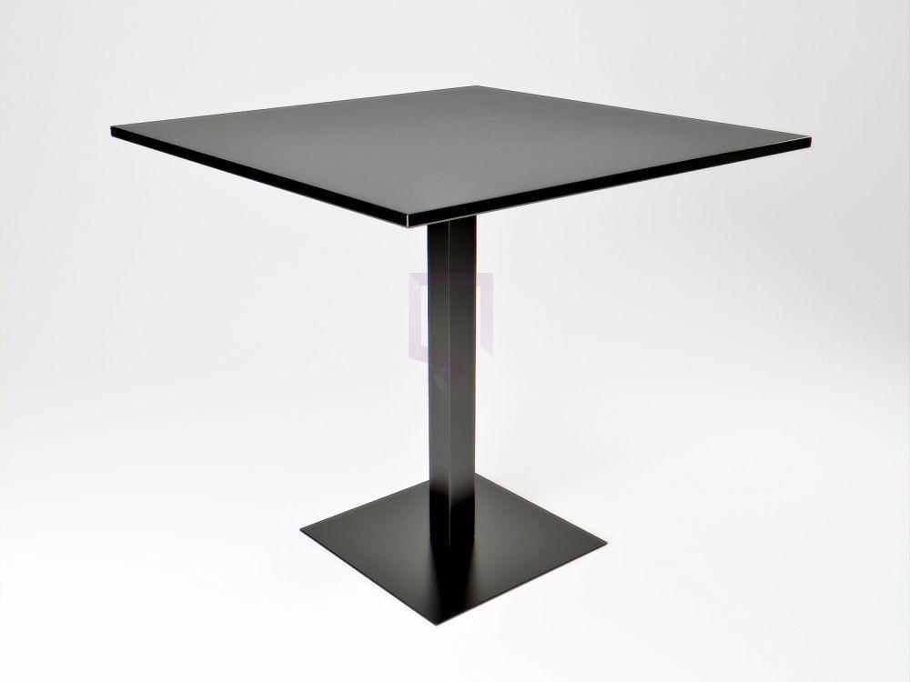 Stół kwadratowy Cali czarny 80 x 80