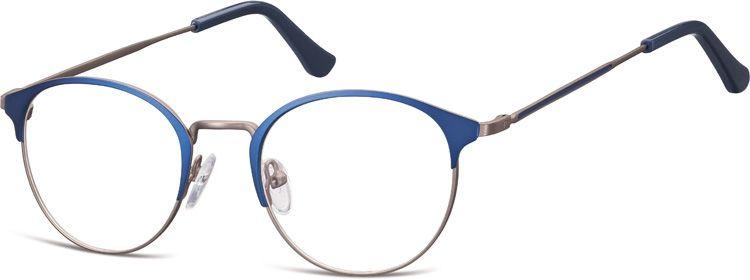 Oprawki okularowe Lenonki damskie stalowe Sunoptic 973B granatowo-grafitowe