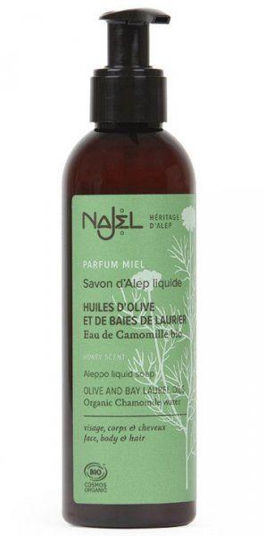 Mydło z Aleppo w Płynie z Dodatkiem Organicznej Wody Rumiankowej, Najel