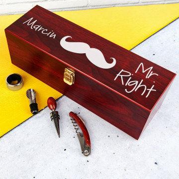 Mr. Right - Skrzynka na wino z akcesoriami