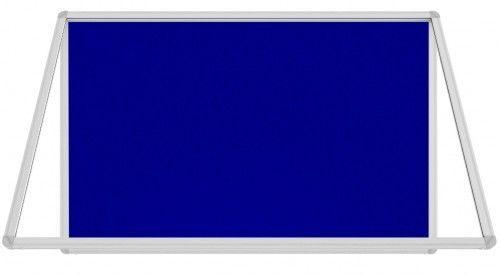 Gablota ogłoszeniowa informacyjna 120x90cm niebieska filcowa w aluminiowej ramie