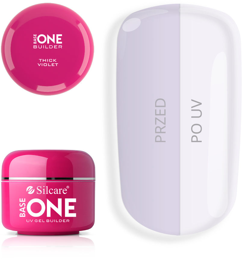 Base One Żel UV Thick Violet 50 g