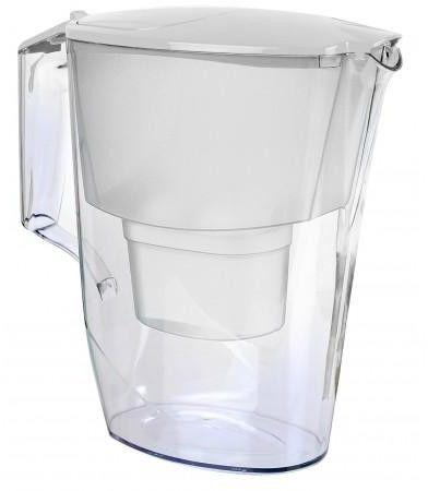 Aquaphor Time Biały Dzbanek do wody 2,5L filtr 1 szt B100-25 Maxfor+4 szt FilterLogic FL-402H