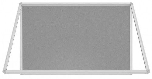 Gablota ogłoszeniowa informacyjna 120x90cm szara filcowa w aluminiowej ramie