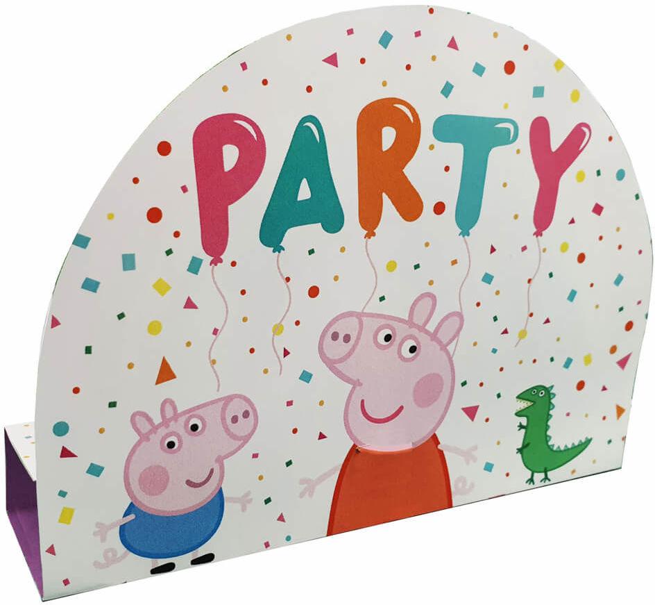 Zaproszenia urodzinowe Świnka Peppa - 8 szt.
