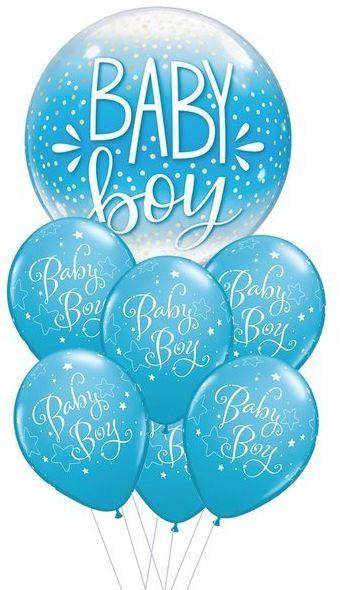 Zestaw balonów na Roczek chłopca niebieskie 7 sztuk 460242