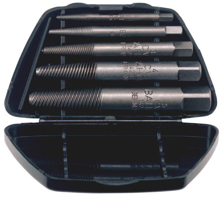 zestaw 5szt. wykrętaków do urwanych śrub o gwintach M4-M18, Bahco [1435/5]