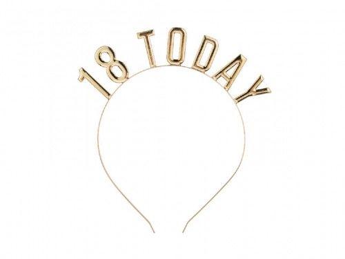 Opaska na 18 urodziny, złota