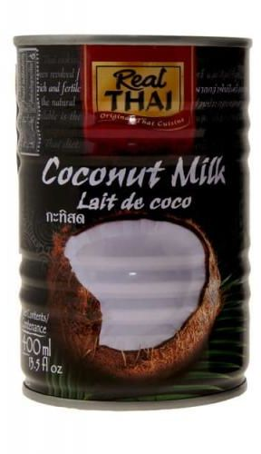 Mleczko kokosowe 17-19% tłuszczu 400 ml Real Thai (Czarna Puszka)