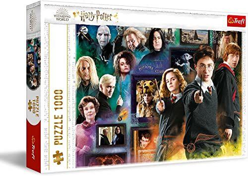 Trefl - Harry Potter Świat Czarodziejów - 1000 Elementów, Puzzle z Bohaterami, Ron, Hermiona, Hogwart, Układanka, Kreatywna Rozrywka, Prezent, Zabawa, Puzzle Klasyczne dla Dorosłych i Dzieci od 12 Lat