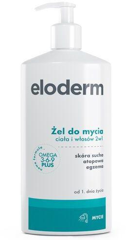Eloderm Żel - emolient - do mycia ciała i włosów 2w1 - 400 ml
