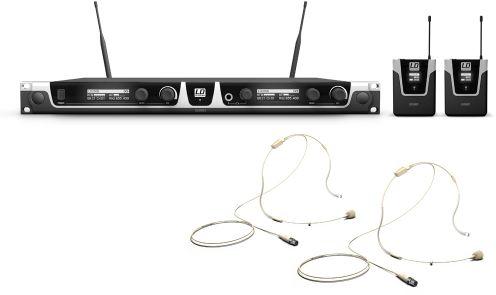 LD Systems U506 BPHH 2 mikrofon bezprzewodowy nagłowny, podwójny, kolor beżowy
