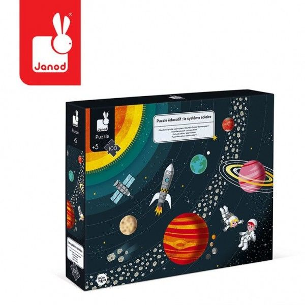 Puzzle edukacyjne układ słoneczny 100 elementów - Janod