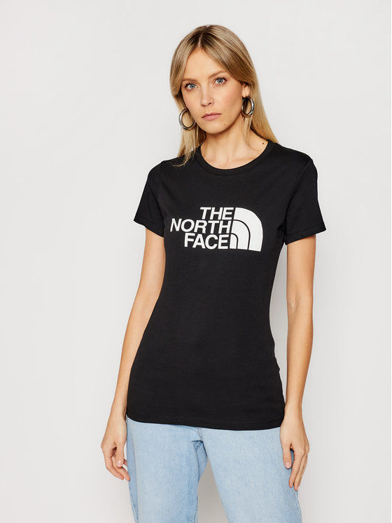 The North Face T-Shirt Easy NF0A4T1QJK31 Czarny Regular Fit