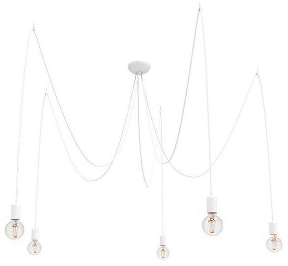 Lampa Nowodvorski pająk SPIDER WHITE V x5 białe kable 9744 + RABAT w koszyku !!! 24h duży wybór żarówek ozdobnych !!!