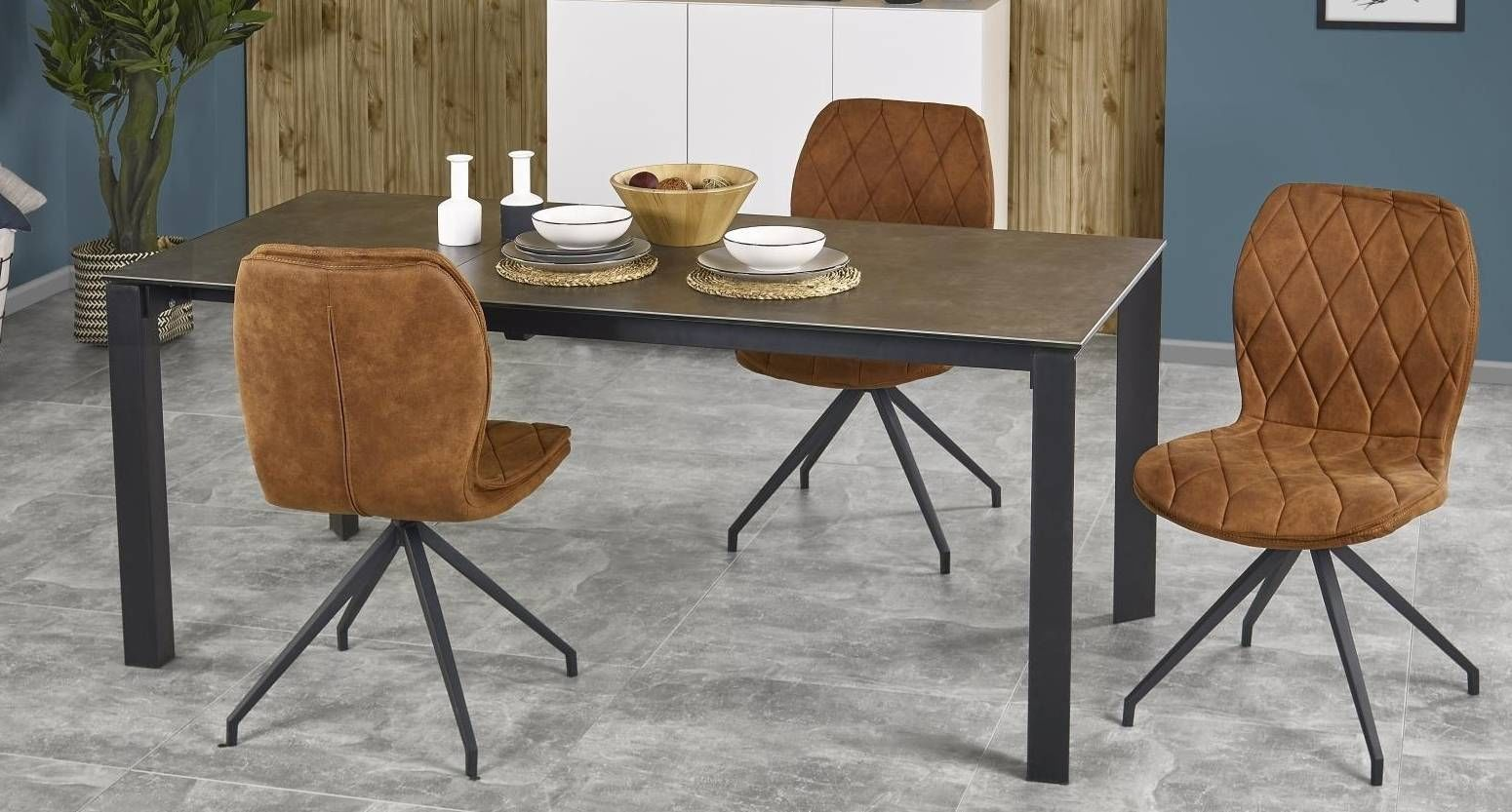Zestaw: stół rozkładany Horizon i 4 krzesła K237 Halmar - 3 kolory