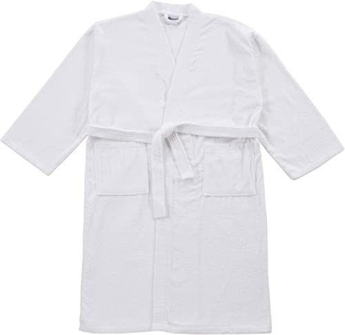 Buscher 20118-100-XXL szlafrok Kimono bawełna 400 g/m , biały