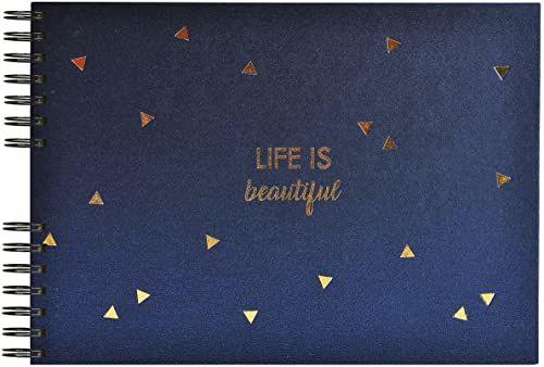 Exacompta Life 16452E album spiralny, 32 x 22 cm, na 100 zdjęć, 1 sztuka, niebieski