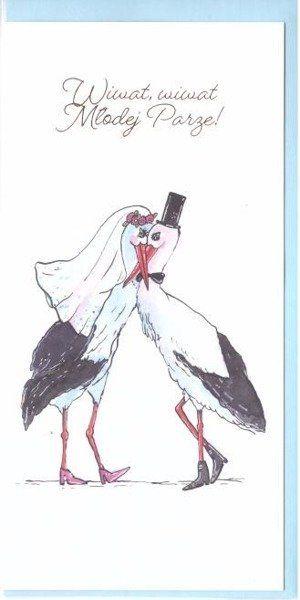 Karnet B6 Ślub - Bociany DL