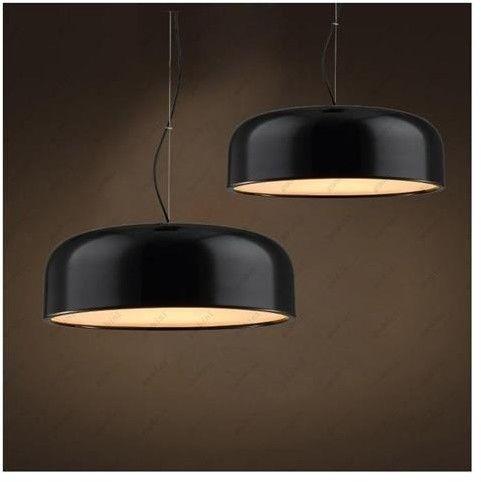 Scudo D35 lampa wisząca 3-punktowa czarna LDP 8369 (BK)