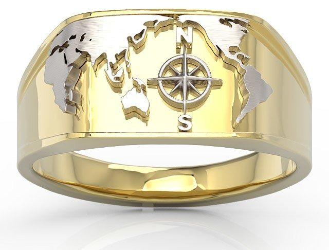 Sygnet morski z żółtego i białego złota sj-14zb