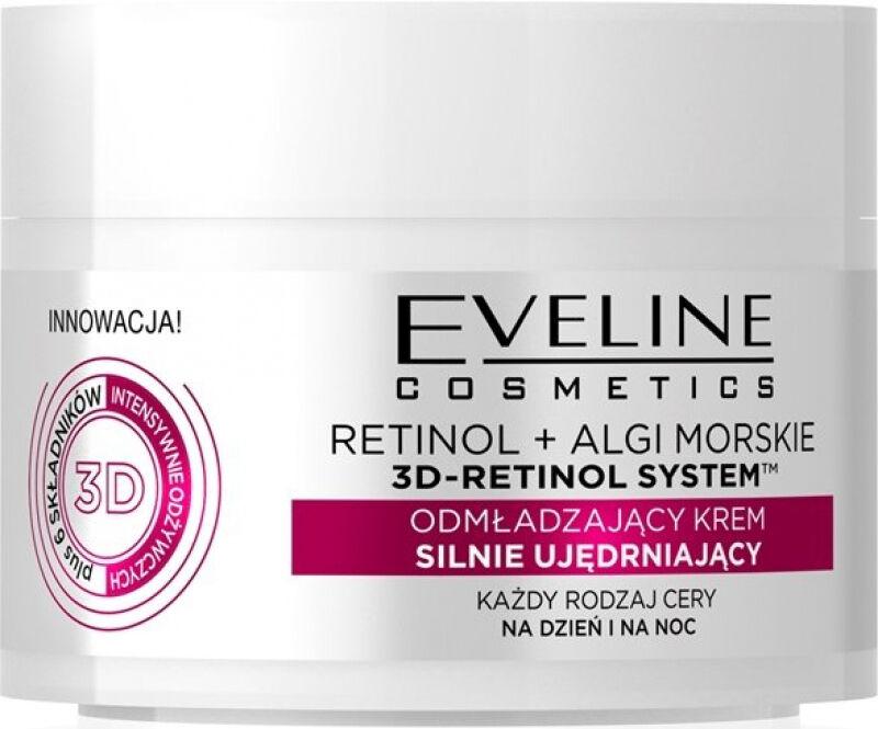 Eveline Cosmetics - 3D RETINOL SYSTEM - Odmładzający krem silnie ujędrniający - Dzień/Noc - 50 ml