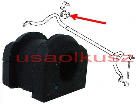 Tuleja guma przedniego stabilizatora 22mm Mitsubishi ASX / RVR