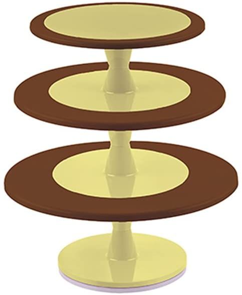 Silikomart 72.364.77.0065 Hula Up patera na tort z obrotową gałką, brązowa, 43 cm, bardzo szeroka