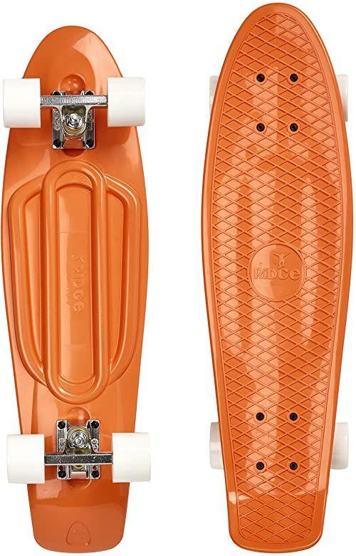 Ridge Skateboards Unisex''s Ridge 27-Pastels Range Big Brother Board-Wyprodukowano w Wielkiej Brytanii - 78 x 19 cm deskorolka, brzoskwinia / biała, cal