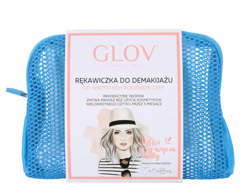 GLOV - TRAVEL SET - Zestaw podróżny do demakijażu twarzy - BLUE