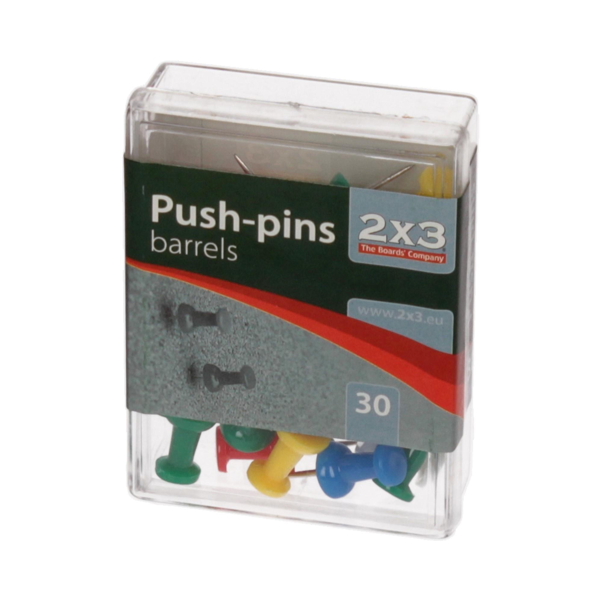 Pinezki tablicowe beczułki (30) 2x3 A002