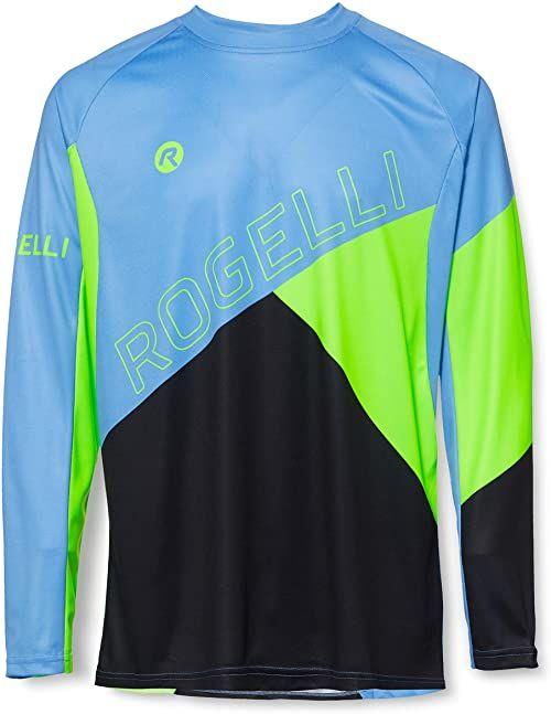 Rogelli męska koszulka Mtb Jersey Long Sleeves Adventure niebieski Blue/Black/Green L