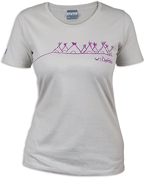 Tatonka Damski T-shirt Wichothi szary Silver Grey 38