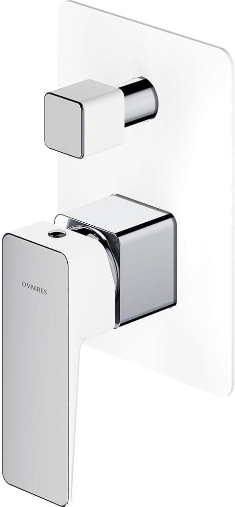Omnires Parma bateria prysznicowo-wannowa podtynkowa chrom/biały PM7435CRB